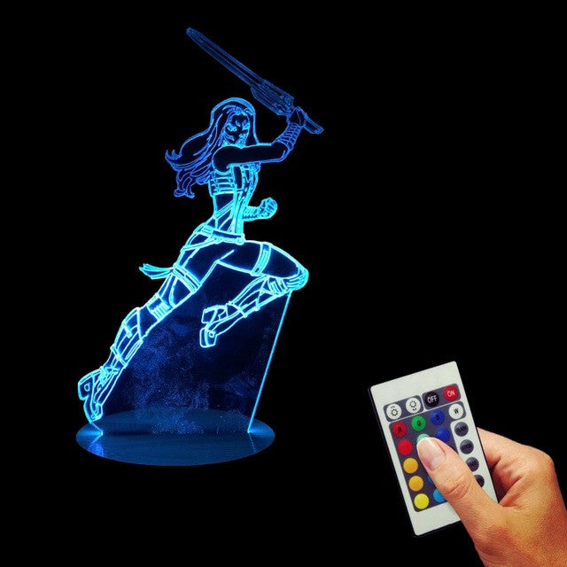 Gamora Jumping LED Lamp + Remote Control