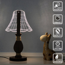 Lampshade Wooden LED Lamp