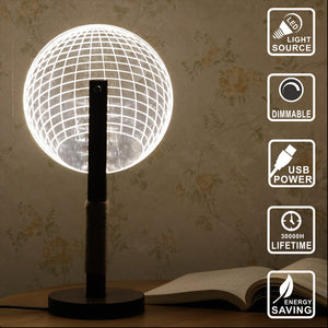 Sphere Wooden LED Lamp
