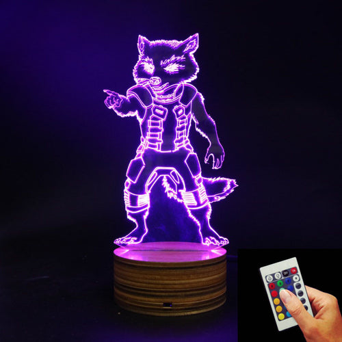 Rocket LED Lamp + Remote Control