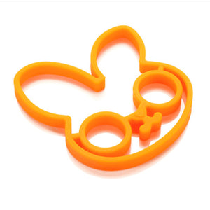 Funny Silicone Egg and Pancake Ring Molds for Yummy Breakfast