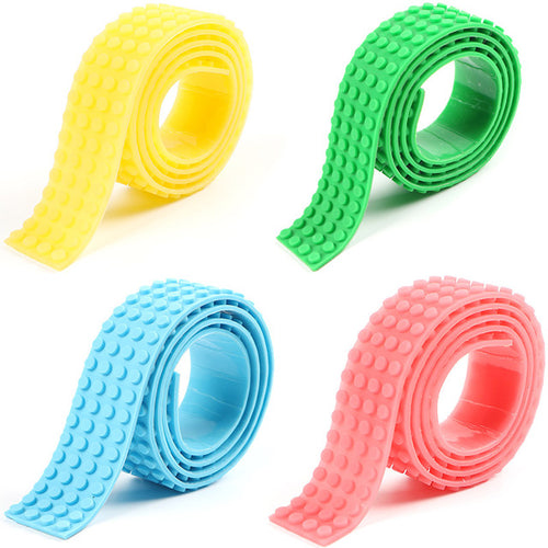 Set of 4 Big Pieces/3.2*92cm LEGO-Compatible Tape