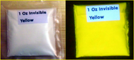 Invisible UV Fluorescent Yellow Pigment Powder
