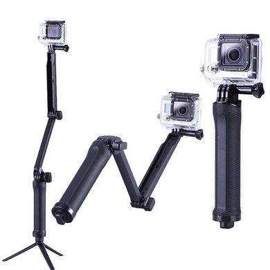 3 Way-Fold Waterproof Monopod Mount For GoPro/Hero (Universal)