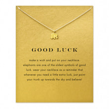 Good Luck Message Elephant Pendant/Necklace (Gift Set)