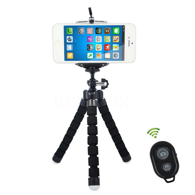 Mini Flexible Octo-Tripod Camera Mobile Phone Stand & Mount (w/Bluetooth Remote Shutter) For Go-Pro Hero 3/4 , iPhone 6/7 FREE SHIPPING!
