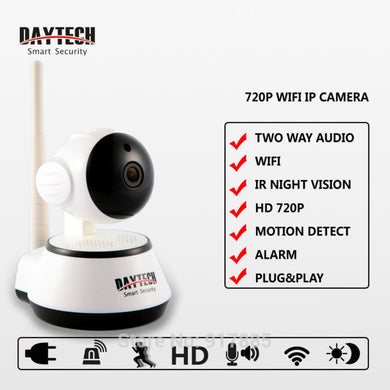DAYTECH - Wireless Home Security - WiFi IP Surveillance Camera - 720P Night Vision CCTV/Baby Monitor (DT-C8815)