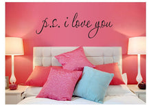 P.S I Love You Wall Art/Decal - DIY (58*15Cm)
