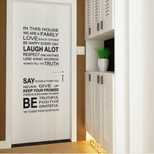 1Pc Incantation English Proverbs Wall Sticker/House Rules - DIY (Removable)