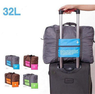 Travel Luggage Bag - Large Sized Folding Carry Duffle Bag - Foldable Travel Bag