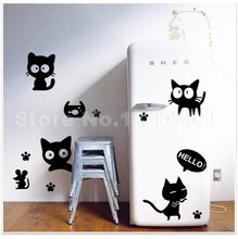 Black Cat - DIY Vinyl Wall Stickers (Removable)