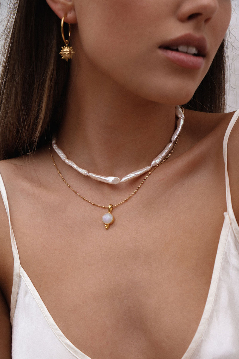 Awaken Moonstone Necklace