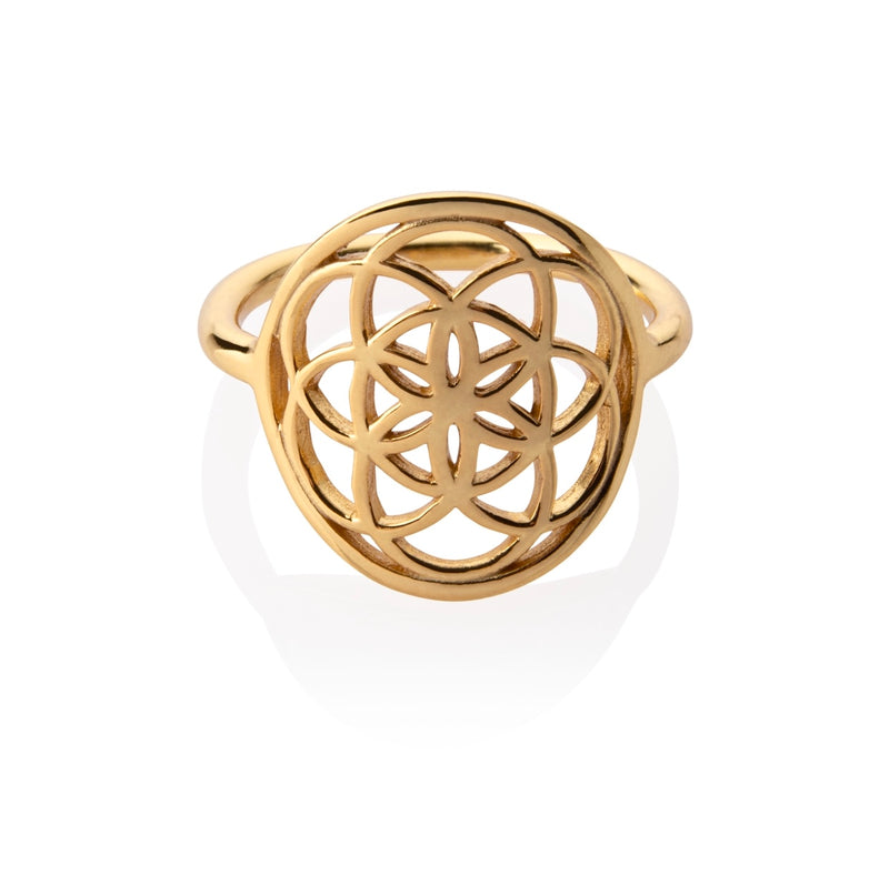 Seed Of The Life Ring PRE ORDER 18k Gold Dec 1st