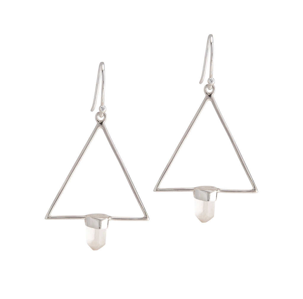 Trilogy Quartz Earrings