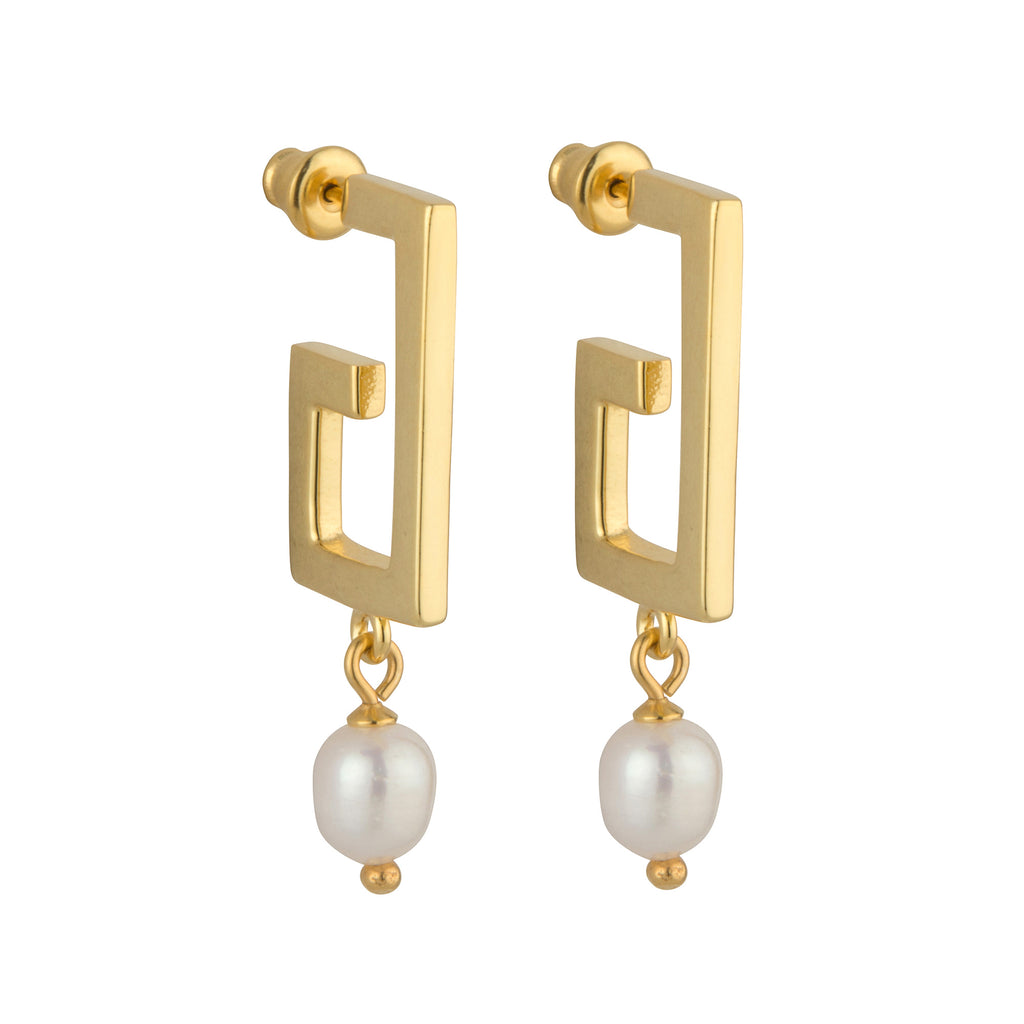 The 'Zara' Pearl Earrings STERLING SILVER & 18K GOLD