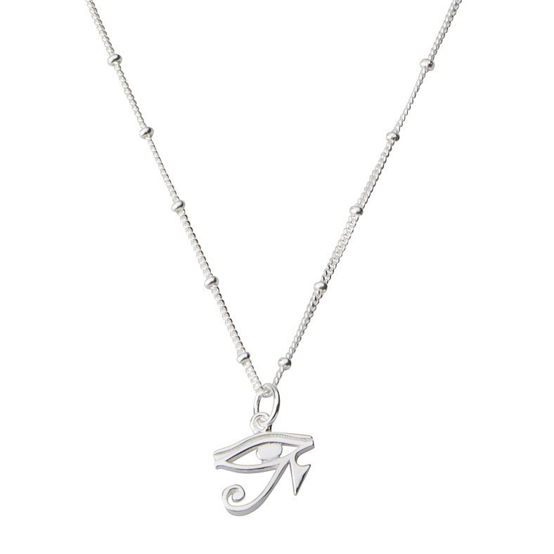 Eye of Horus Necklace STERLING SILVER & 18K GOLD
