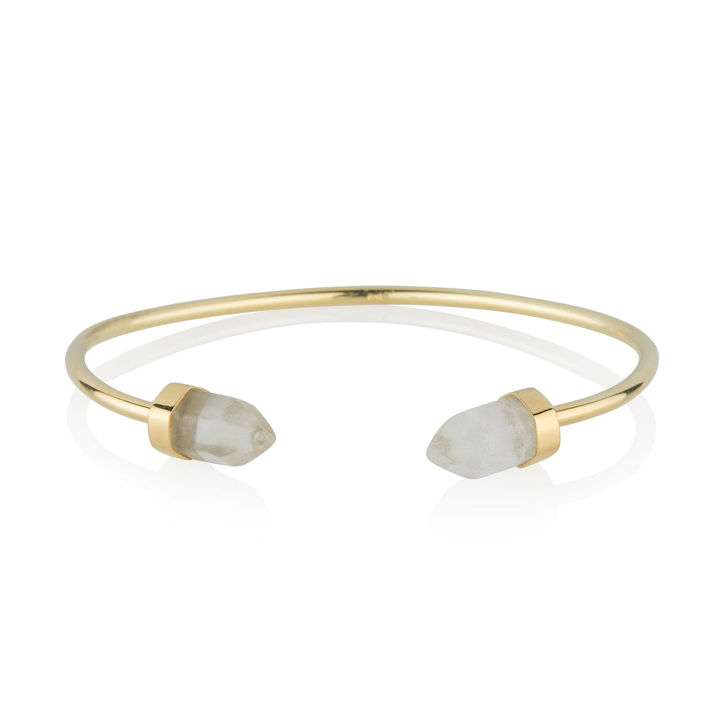 Quartz Cuff STERLING SILVER & 18K GOLD