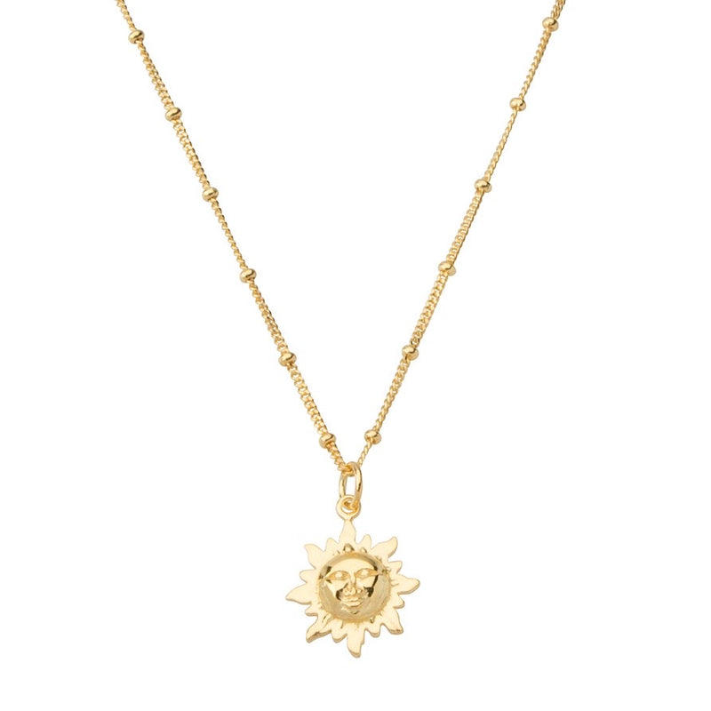 Solar Necklace STERLING SILVER & 18K GOLD