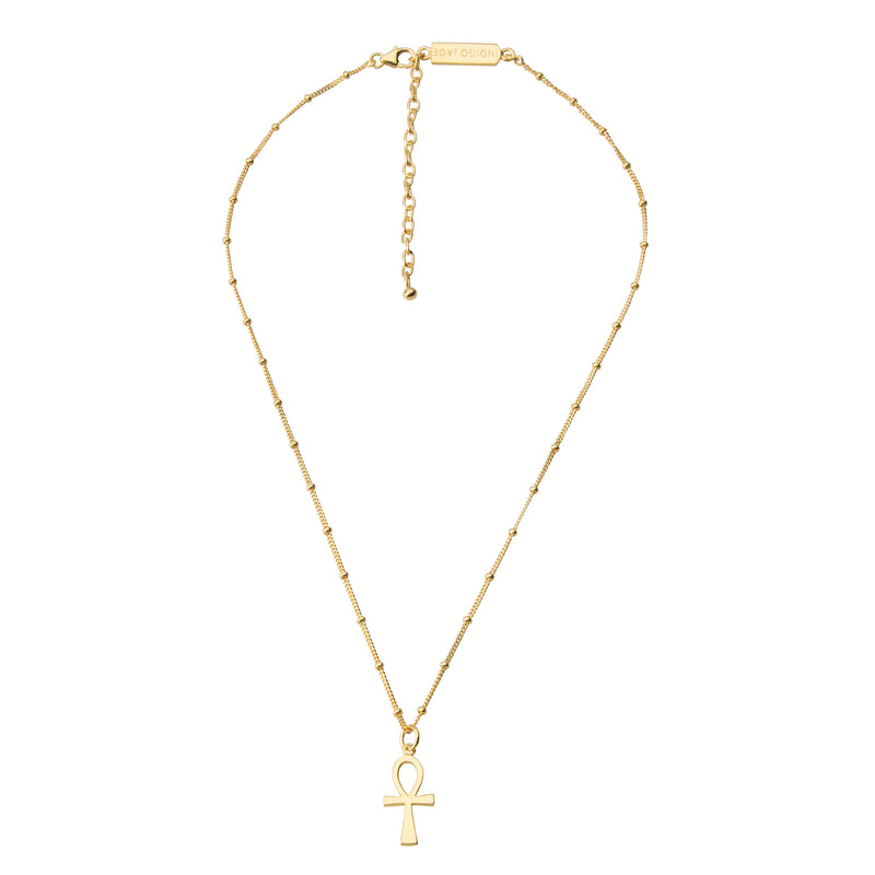 Ankh Necklace STERLING SILVER & 18K GOLD