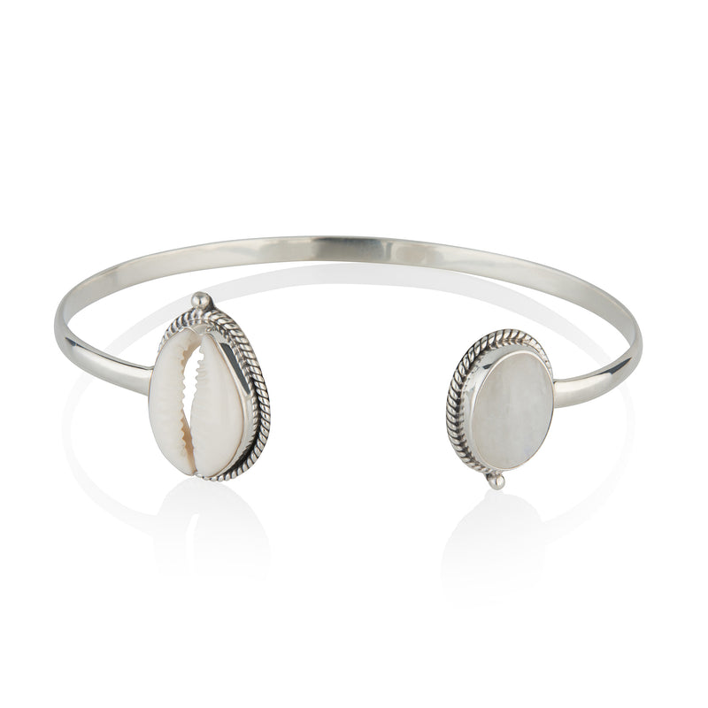 Cowrie Cuff STERLING SILVER