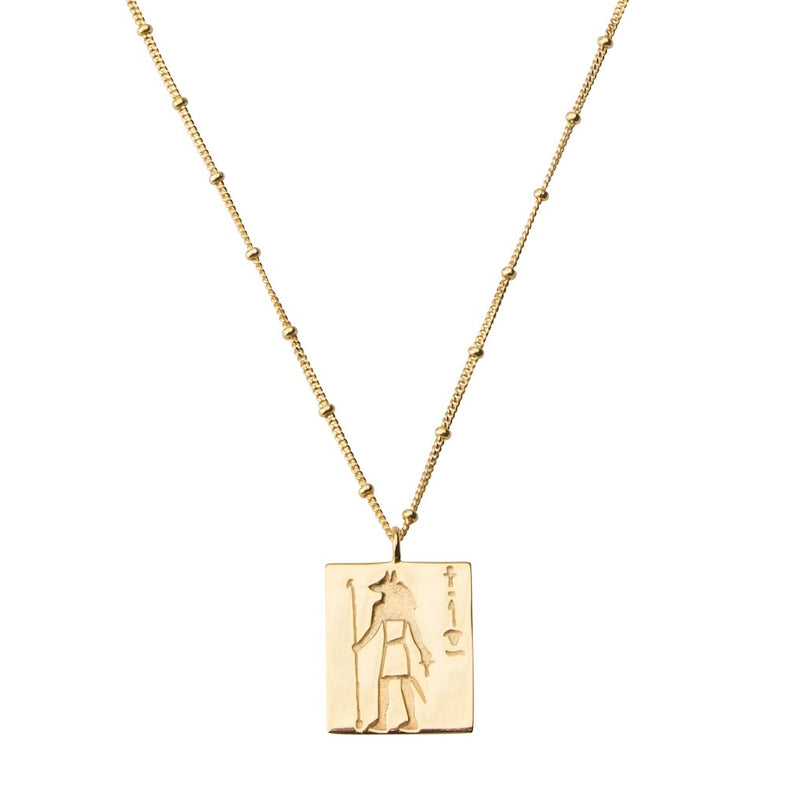 Anubis Necklace STERLING SILVER & 18K GOLD