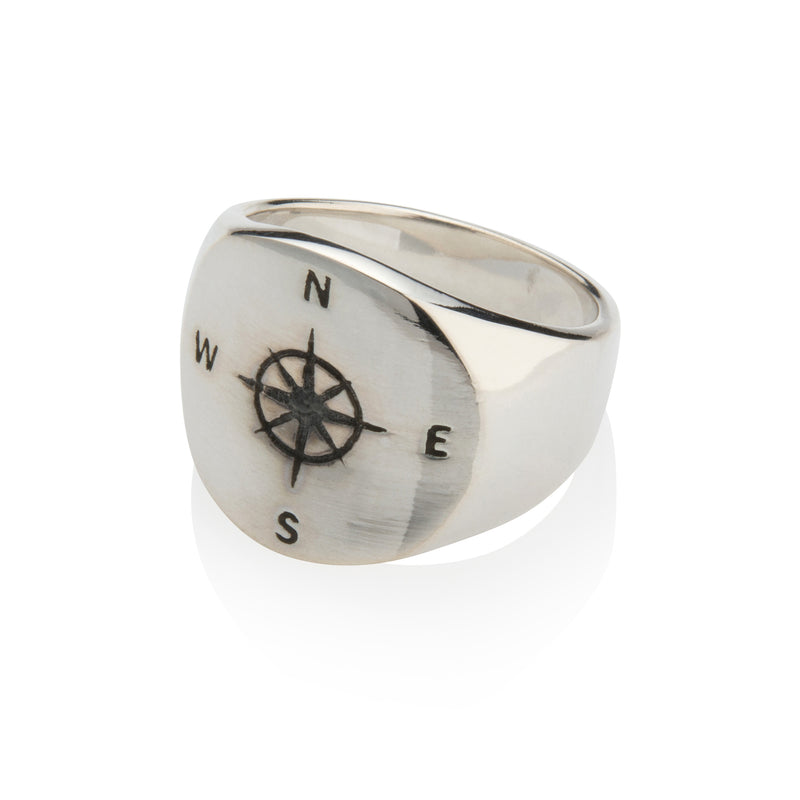 Men's Compass Ring