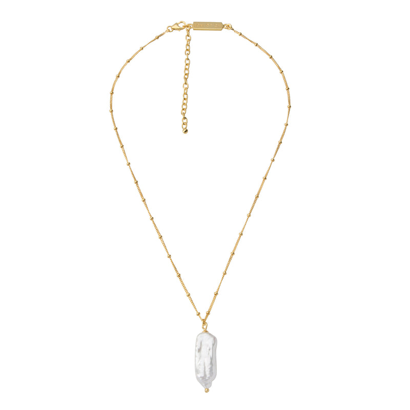 The 'Chloe' Pearl Necklace STERLING SILVER & 18K GOLD