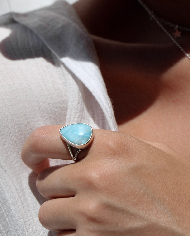Larimar Point Ring