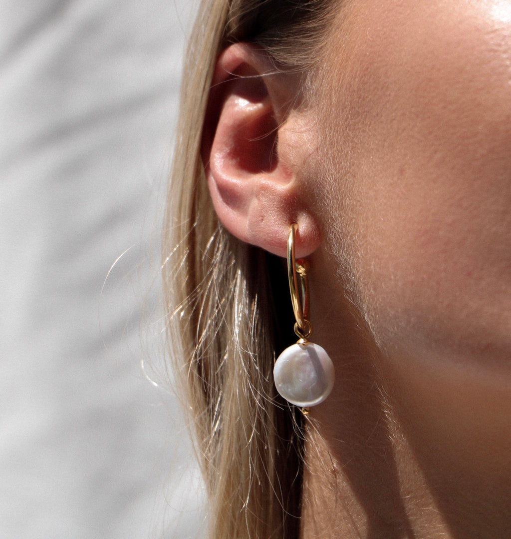 The 'Anna' Pearl Earrings STERLING SILVER & 18K GOLD