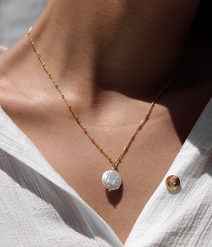 The 'Cody' Pearl Necklace STERLING SILVER & 18K GOLD