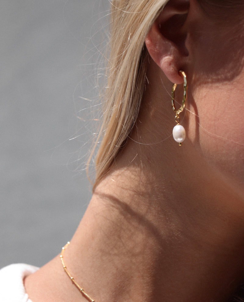 The 'Paris' Pearl Earrings STERLING SILVER & 18K GOLD