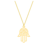 Hamsa Hand Necklace - SILVER & GOLD