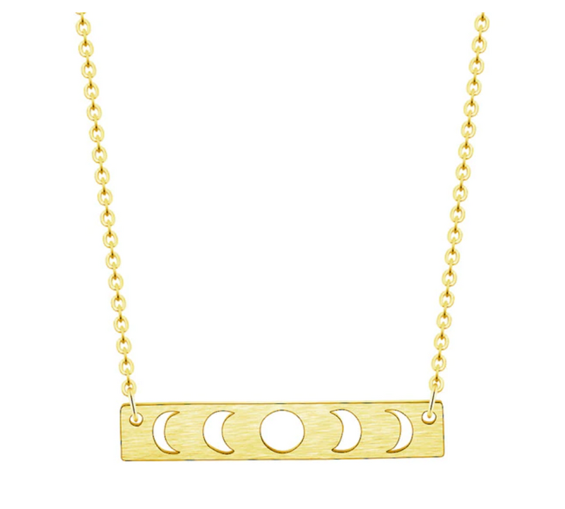 Moon Cycle Necklace - SILVER & GOLD