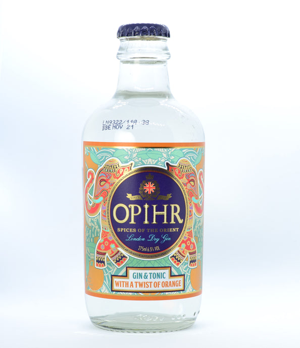 OPIHR GIN AND TONIC WITH A DASH OF ORANGE 275ML
