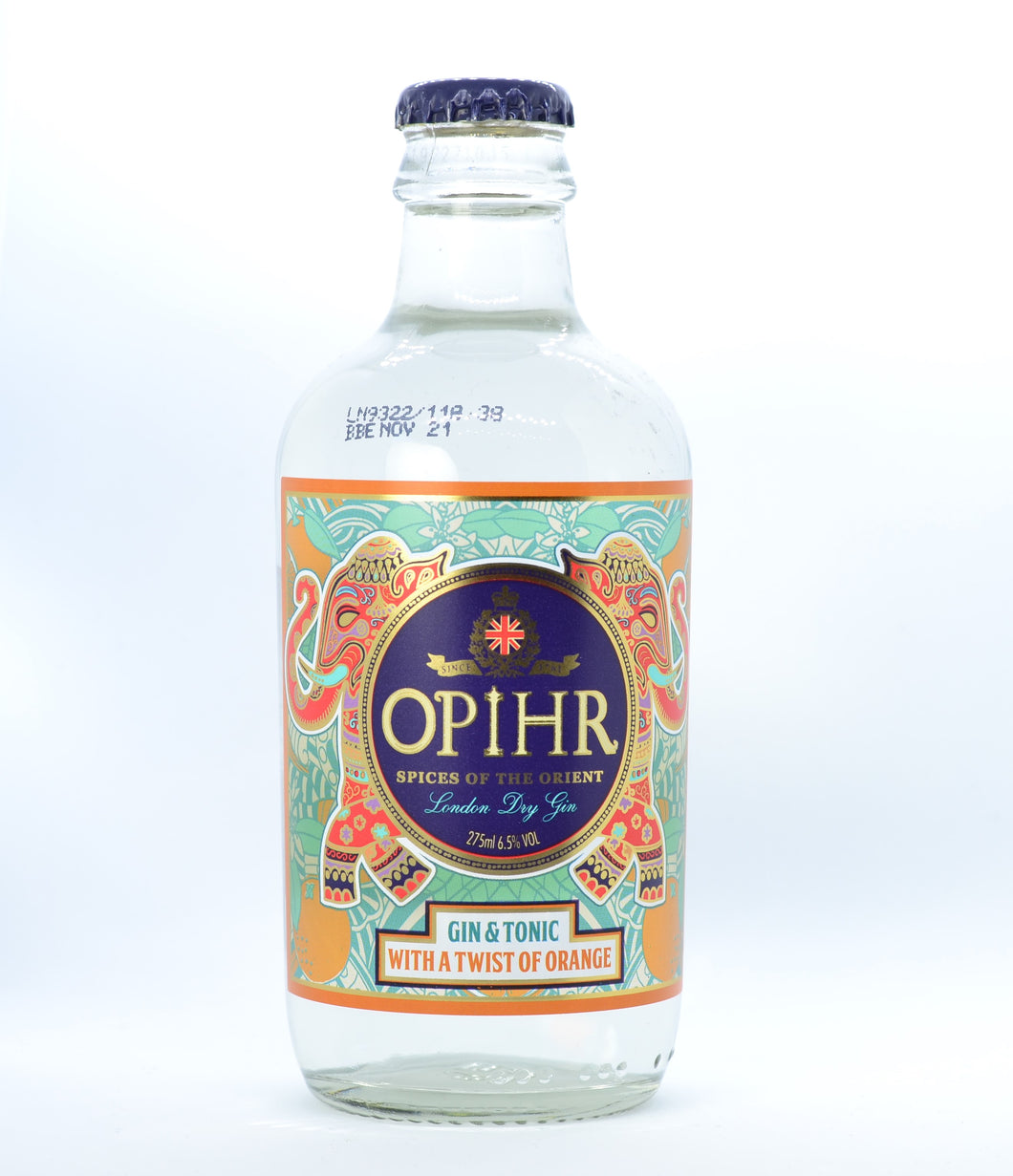 OPIHR GIN AND TONIC WITH A DASH OF ORANGE 275ML - Vino Wines