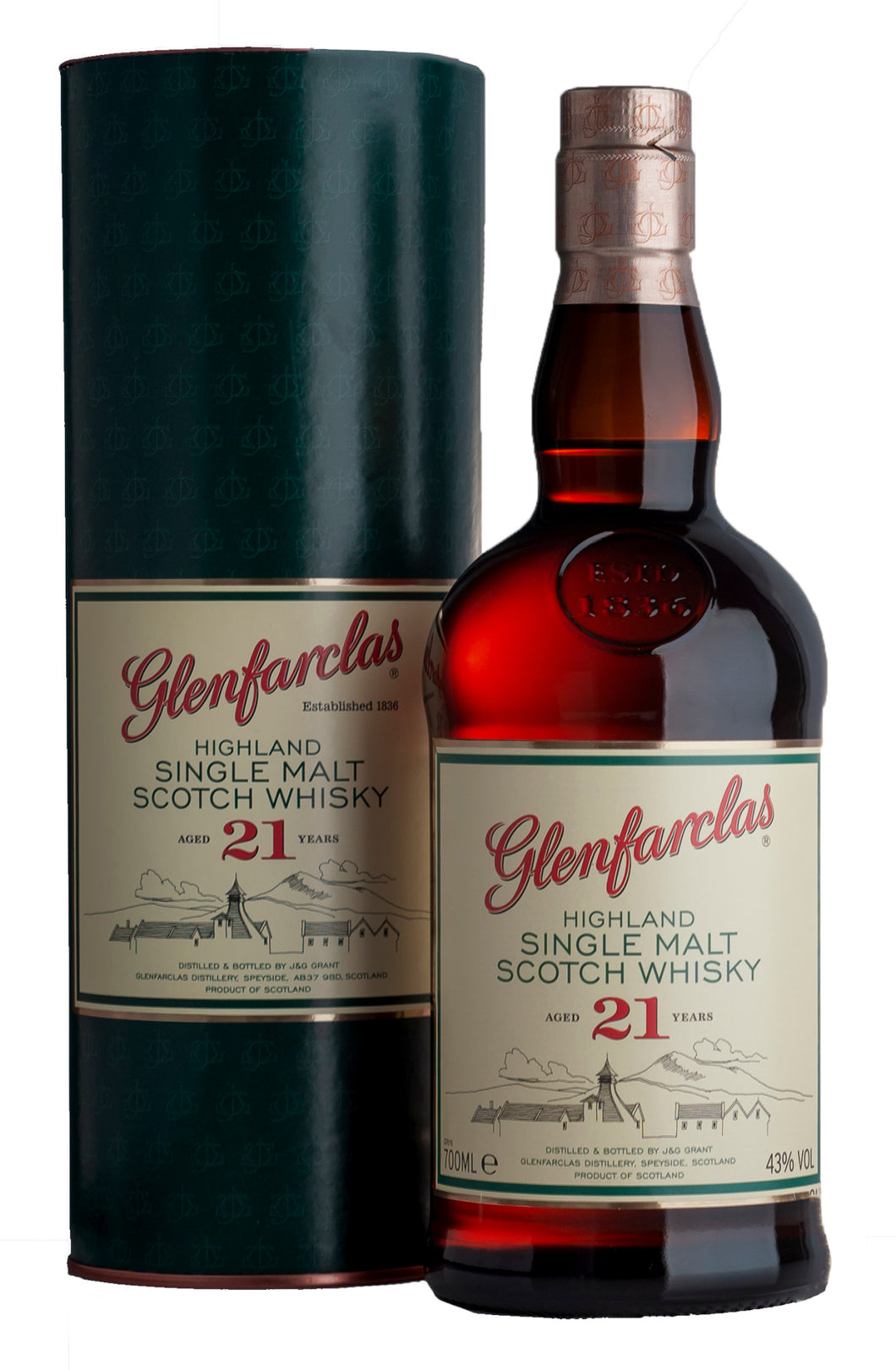 GLENFARCLAS 21 YEAR OLD 70CL - Vino Wines