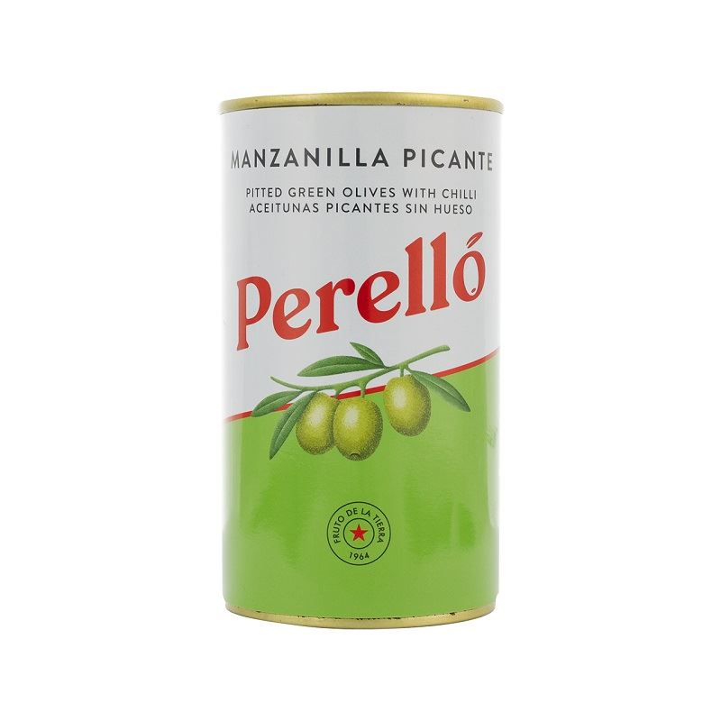 PERELLO PITTED MANZANILLA OLIVES WITH CHILLI 150G - Vino Wines