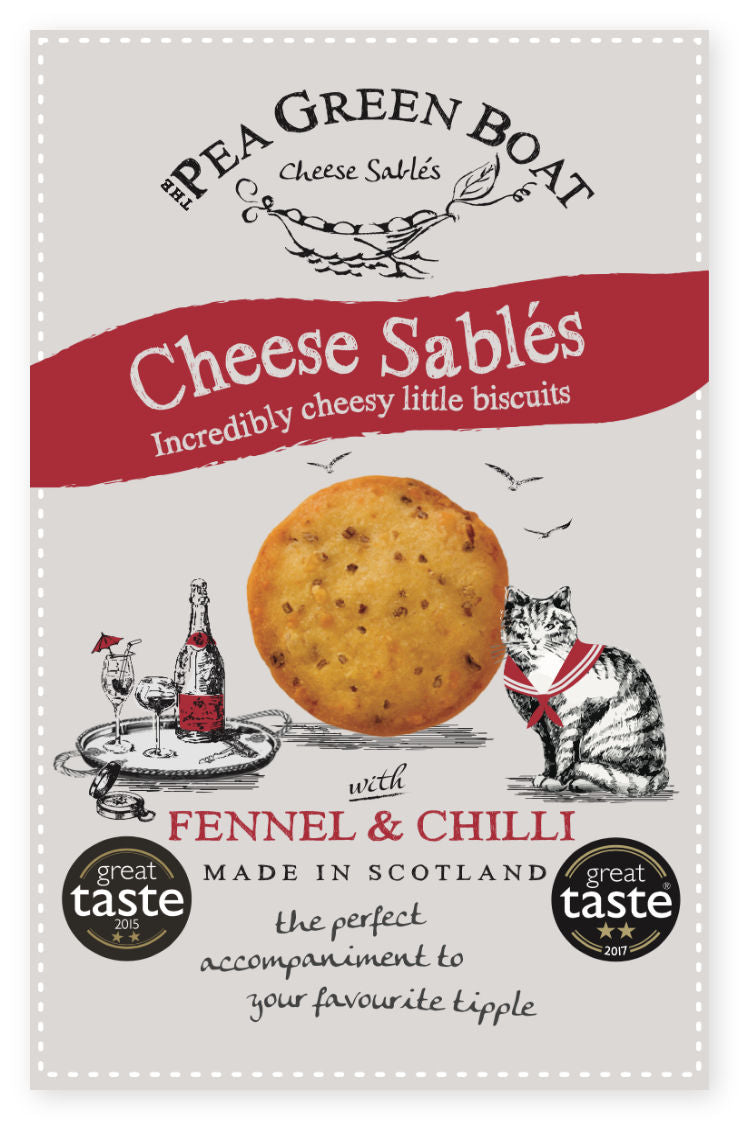 CHEESE SABLES WITH FENNEL & CHILLI 80G - Vino Wines