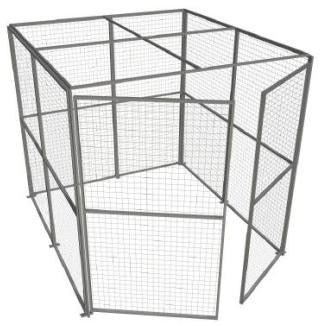 Galvanised THREE Sided Security Cage 2.44m High x 2.44m Wide
