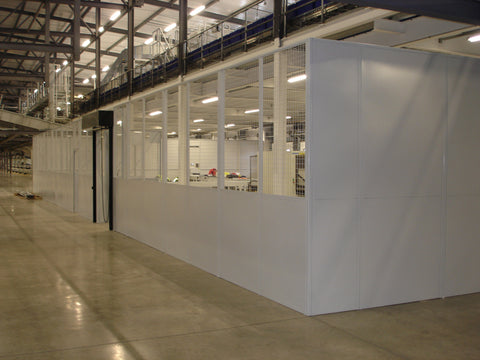 Two Sided Single Skin Steel Partition Office