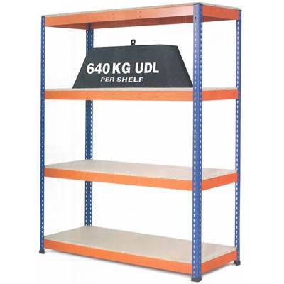 1.5m Wide - Heavy Duty Shelving Bay