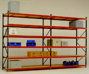 Second Hand Mecalux Longspan Shelving 1.00m Wide - Complete Bays