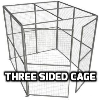 Indoor Use Three Sided Security Cage 2.44m High x 2.44m Wide