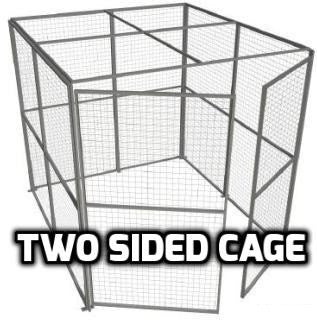 Indoor Use Two Sided Security Cage 2.44m High x 2.44m Wide