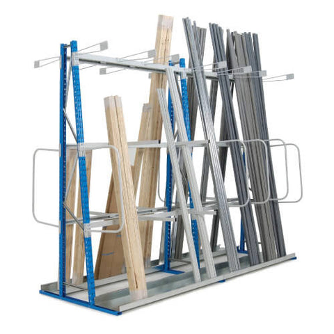 Vertical Storage Rack Add-on Bays - Double Sided