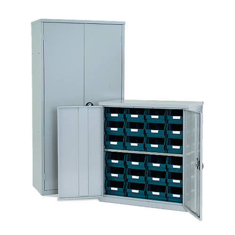 Lockable Bin Cupboard complete - 24 bins
