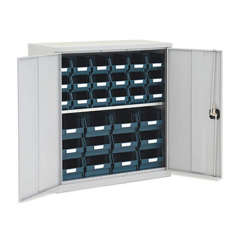 Lockable Bin Cupboard complete - 30 bins