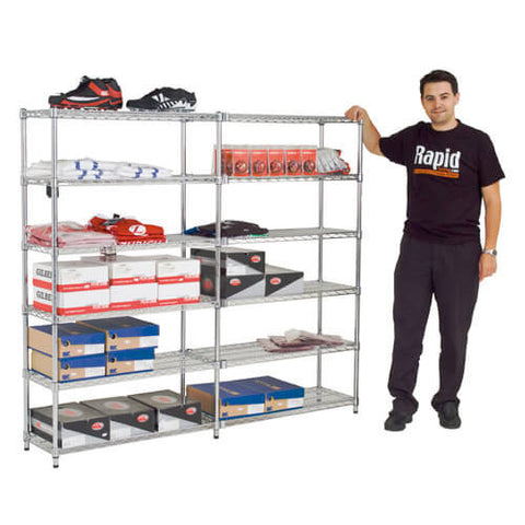 Pack of 2 Chrome Shelves