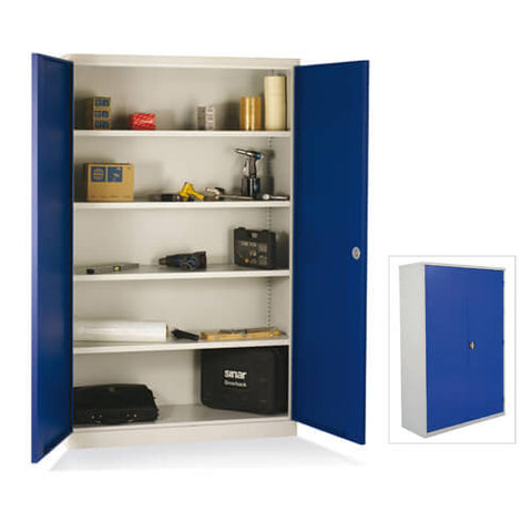 Extra wide Industrial cupboard 1950x1200x450 Blue