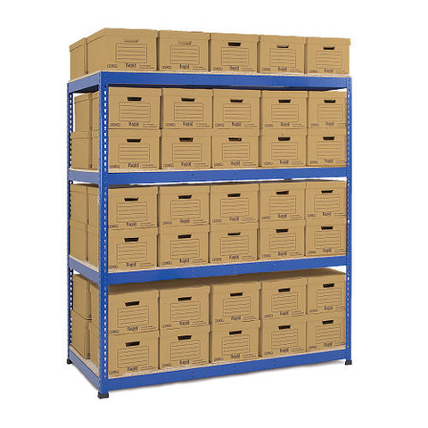 RSS 1 & Grey Archive Storage Unit 100 boxes